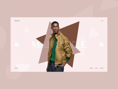 lock'ck clothes slider commerce fashion design concept template web