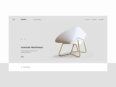 Häuslich minimalism ux ui free animation concept slider furniture web