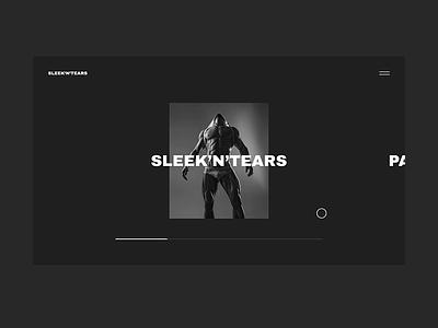 Sleek'N'Tears free minimalism page landing template commerce logo personal concept interface animation slider fashion ux promo ukraine portfolio ui design web