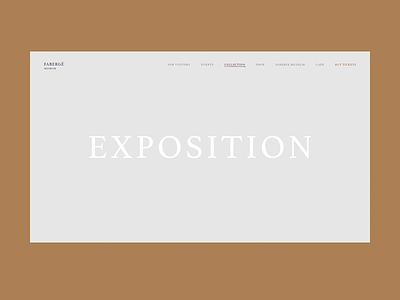 Exposition Scroll commerce personal ukraine concept interface review expression art fashion slider promo portfolio transition animation faberge museum ux ui design web