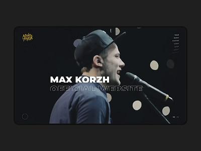 Max Korz desktop template free logo minimalism commerce store personal concept interface animation slider ux landing promo ukraine portfolio ui design web