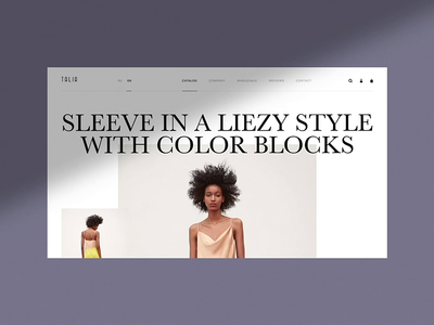 Talia branding desktop free shop minimalism concept template commerce store promo slider interface animation fashion ux portfolio ui design ukraine web