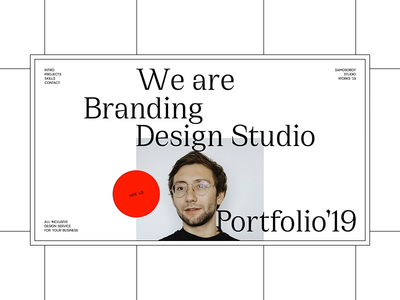Samosoboy Branding Studio typography branding personal one slider ui free design minimalism interface template landing fashion ux promo ukraine concept animation portfolio web