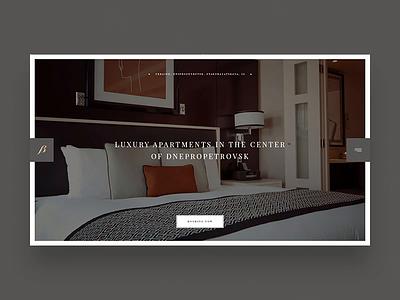 Bon Hotel typography desktop personal landing commerce interface minimalism template ux app fashion promo ukraine concept animation portfolio slider ui design web