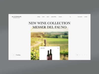 Alcomag First Concept promo alchogol drinks shop ecommerce ukraine concept animation portfolio ui design web