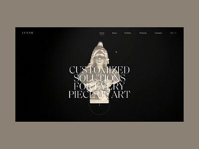 Luxam second concept landing ukraine promo concept animation portfolio slider ui design web