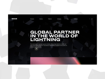 MAXUS FIRST CONCEPT interface fashion lightning cube 3d ui ukraine promo concept animation design web