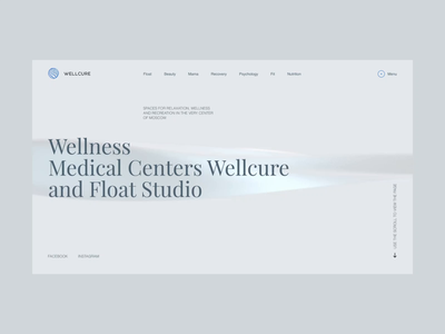 Wellcure corporate website template fashion promo ukraine concept portfolio animation ui design web