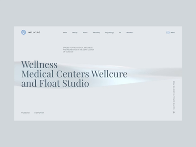 Wellcure corporate website template fashion promo ukraine concept portfolio animation ui design web