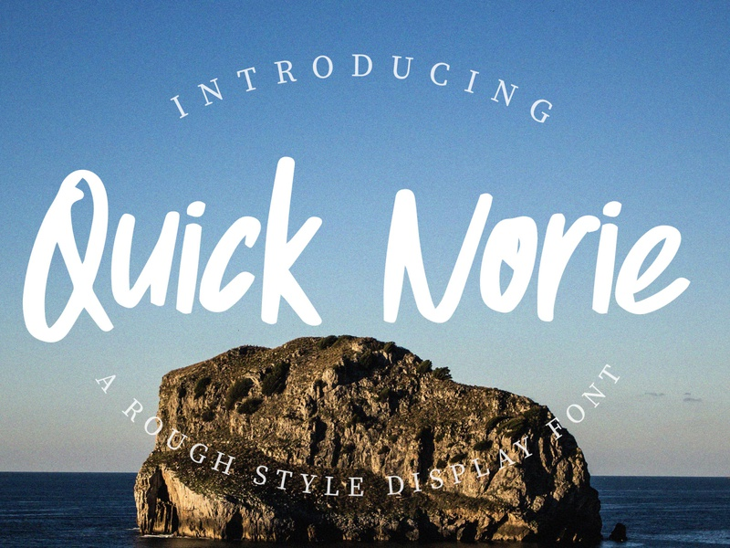 Quick Norie Font Preview display font handbrush font art handbrush font handbrush type font design type font font creator font design preview font preview font design lettering style letter text abc alphabet typography type design font