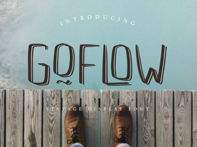 GOFLOW Handwritten Display Font alphabetical