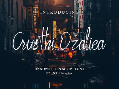 Crusthi Ozaliea Handwritten Script Font