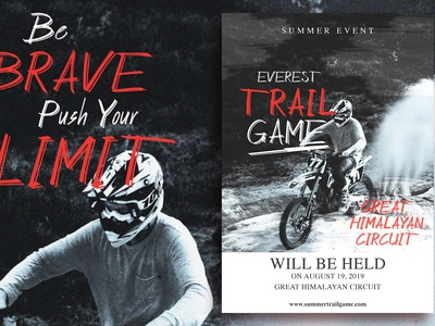Trail Event Flyer Design template