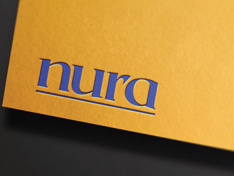 Nura letterhead design poster design branding design businesss cards stationery design clean logo yellow branding logo design logo