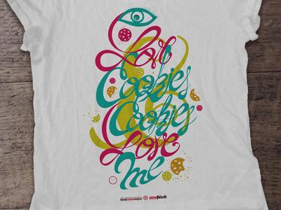 I (eye) love cookies & cookies love me t-shirt