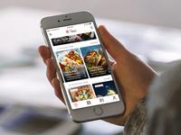Food Ordering App Landing Screen