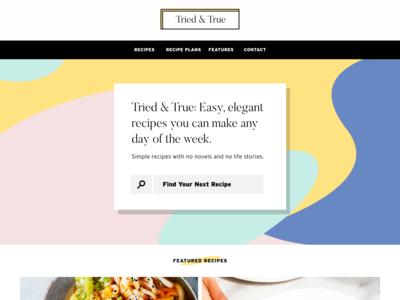 Recipe Blog: Redesign