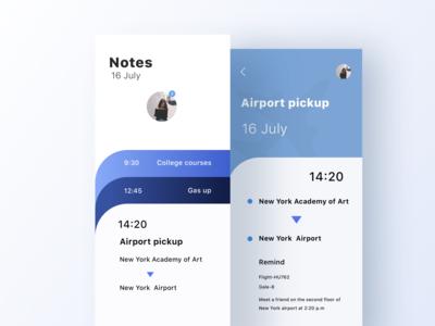 Clean notepad app