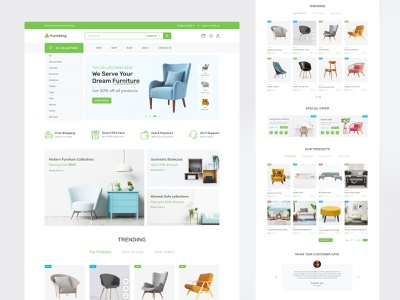 E-commerce Furniture Store Shopify Landing page furniture ecommerce ui templates shopify theme woocommerce dropshipping shopify store online store ecommerce website online shopping shopify ecommerce business commerce cart e-commerce ecommerce store ui design ux design web design landing page