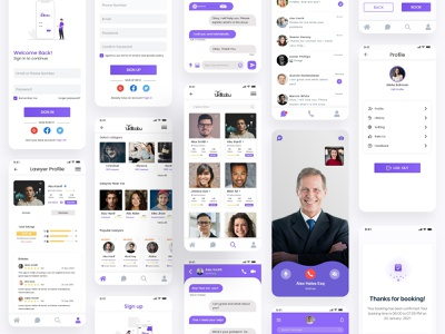 Lawyers Consultation App UI Design ux design iphone android app showcase legal apps for clients free lawyer app lawyer appointment app lawyer app ui design lawyer app ui download lawyer app ui free justice advocate lawyers legal law firm attorney law ios app design ui design