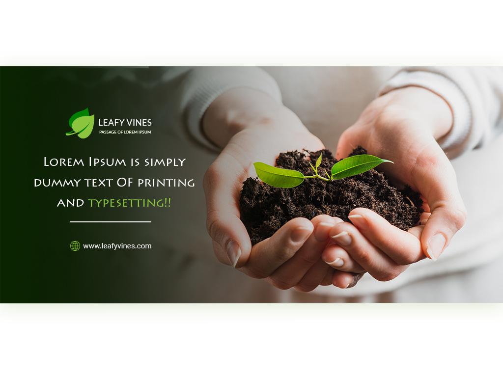Leafyvines slider design leaf logo banner design banner ads banners
