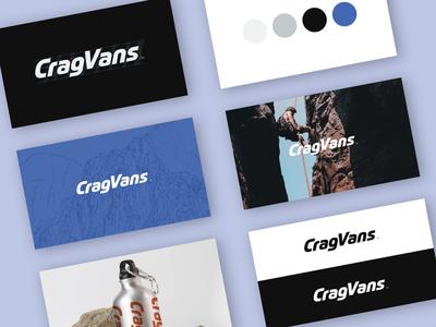 CragVans Logo Development outdoors logo outdoors modern typeface brand design branding and identity branding logo design branding logo design logo