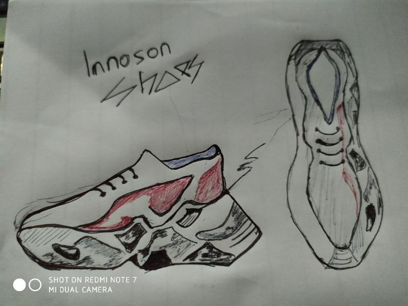 SNEAKER CONCEPT fasjion sketch product illustration sneaker shoe