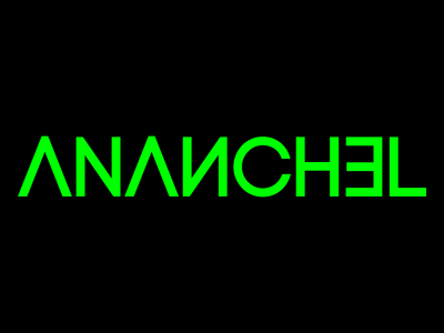 Ananchel V1 typography music minimal 2 color futuristic