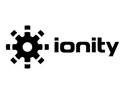Ionity Logo branding logo custom typography monochrome cog gear modern