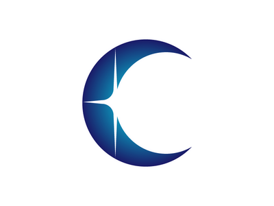 Cindil Logo V1 moon star knockout gradient ramp stylized custom typography