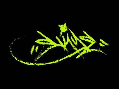 Signature monochromatic monochrome handwriting calligraphy graffiti