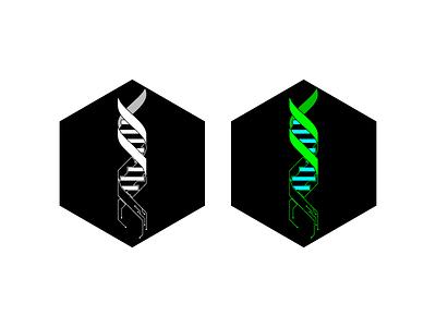 XFF Logo dna circuit hexagon logo futuristic cyberpunk branding