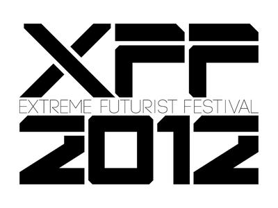 XFF Type Treatment custom typography logo branding futuristic minimal monochrome