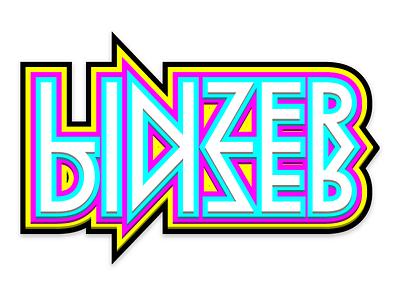 LinzerDinzer Logo branding logo cmyk typography layered 3d type pop plastic