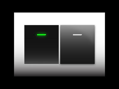 Switch futuristic plastic cyberpunk ui 3d switch rebound