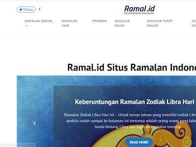 Ramal.id zodiac website design