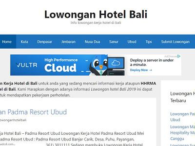 Lowongan Hotel Bali website redesign