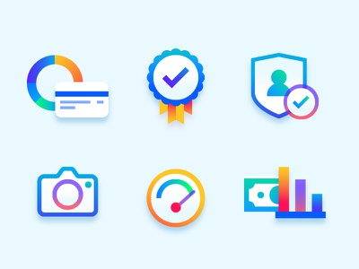 Marco De Sousa Bettr Icons bettr bright gradient colourful banking iconography branding brand icon