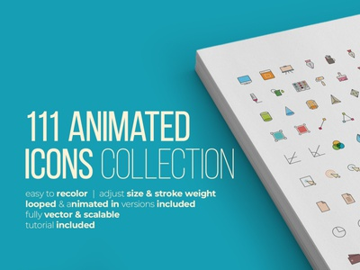 111 Animated Icons Pack - After Effect Template infographic flat collection corporate business icon set icon design background illustration scalable cool animated in looped icon vector adobe illustrator after effect motion graphics animation design