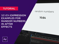Random Numbers in After Effects
