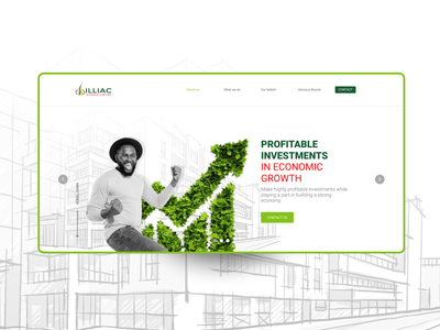 Real Estate/Investment Website design web ui branding