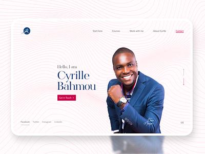 Cyrille Bahmou Personal Website finance figmaafrica figma web branding design ux ui