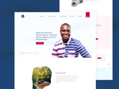 Personal Finance Coach Website for Cyrille Bahmou figmadesign coach finance figmaafrica design ui  ux