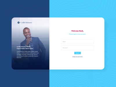 Simple Registration Page for Cyrille Bahmou Website figma coach ui  ux figmadesign ui web finance figmaafrica design