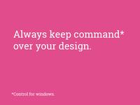 command/control, same diff...