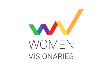 Women Visionaries featured entrepreneur founder business visionary growth power potential leadership diversity women empowerment logo