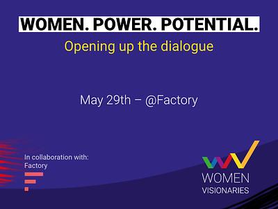 Women Visionaries Debut Event women visionary strength power potential logo leadership growth founder entrepreneur empowerment diversity