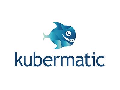 """Kubermatic """"Kubi"""" featured character tech kubernetes fish logo"""
