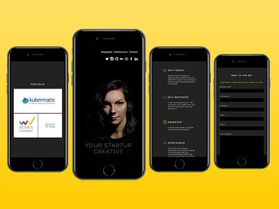 Your startup creative featured nodejs javascript css html portfolio ux ui responsive image mobile website