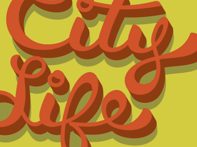 City Life illustration type font typography lettering custom